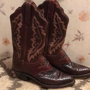 1883 by Lucchese Cowboy Boots Lizard Skin Inlay